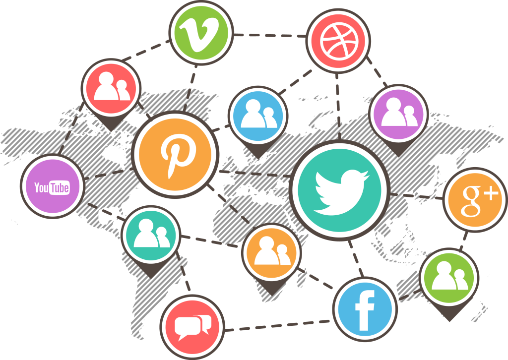 Connected social media networks
