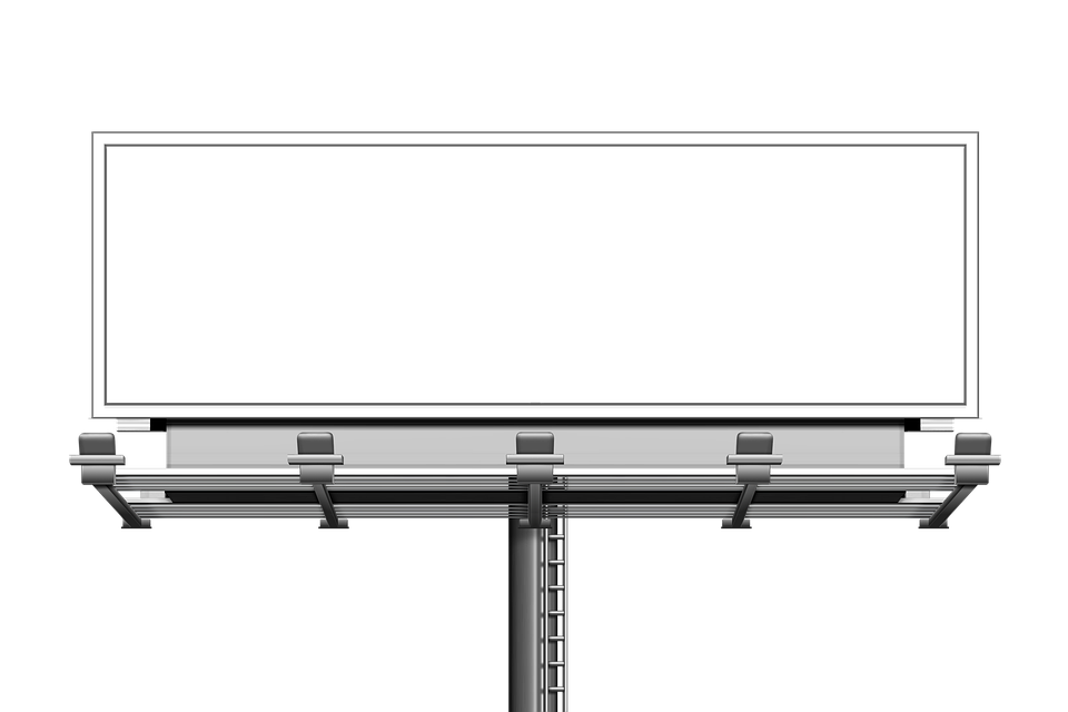 image of an empty billboard to represent an example of on the traditional advertising services offered by revemp digital studios